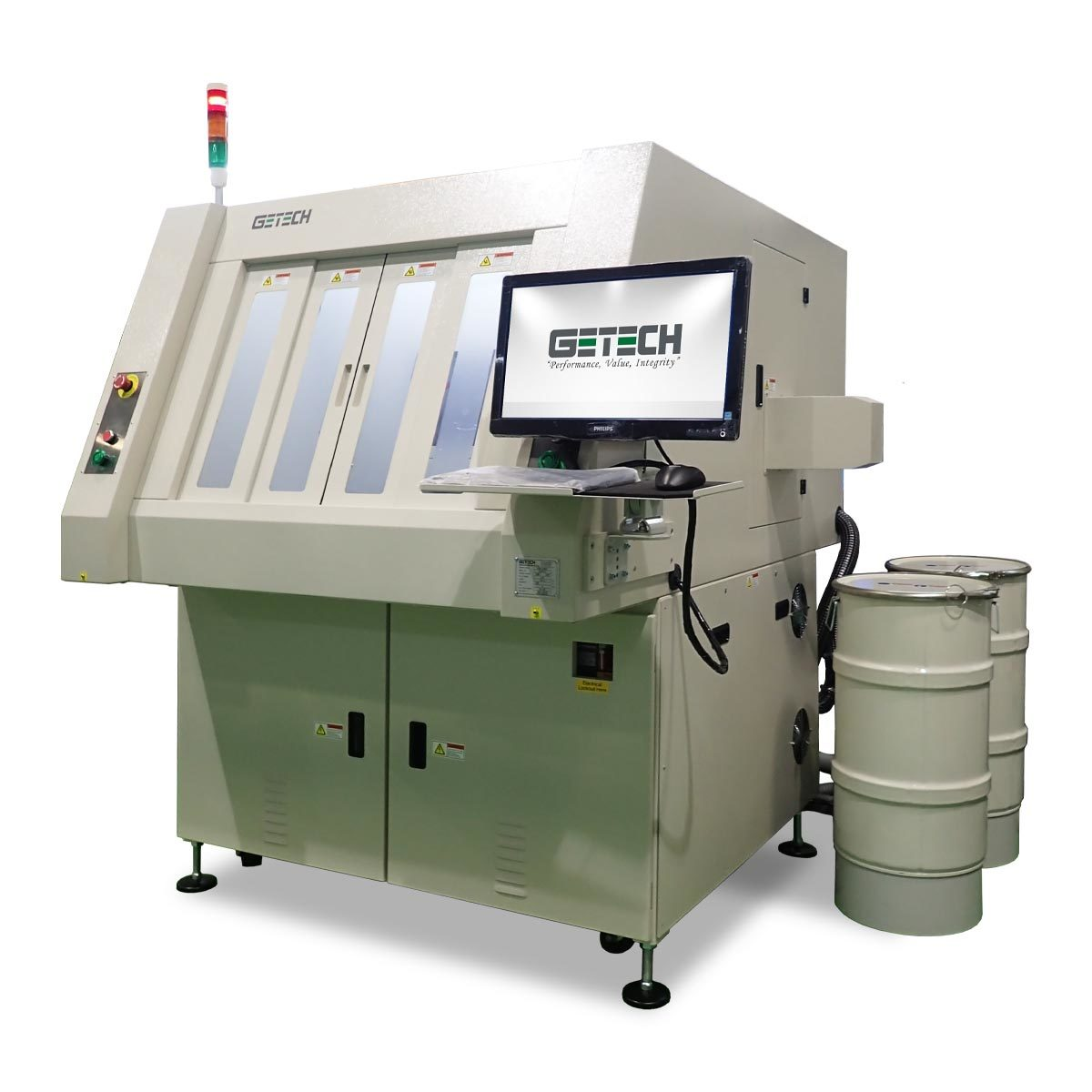 GETECH GSR1280E SEMI AUTOMATIC ROUTER MACHINE